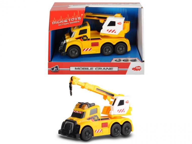 Функциональный автомобиль Dickie Toys С раскладным краном, свет, звук, 15 см (3302006)