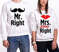 "Парные Свитшоты ""Mr. Right/Mrs. Always Right"" (30-100% предоплата)"