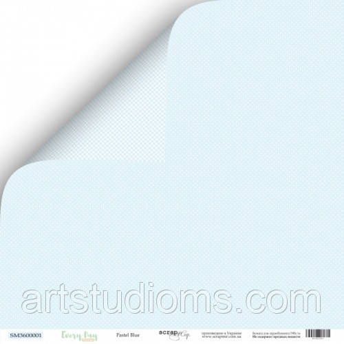 Лист двусторонней бумаги 30x30 от Scrapmir Blue Pastel из коллекции Every Day