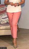 Брюки женские большого размера 857394-2 розовый 50-52 54-56