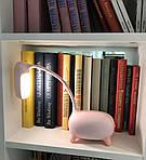 Детская настольная LED лампа NOUS S4 Pink 4W 2700-6500K с аккумулятором, фото 7