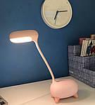 Дитяча настільна LED лампа NOUS S4 Pink 4W 2700-6500K з акумулятором, фото 9