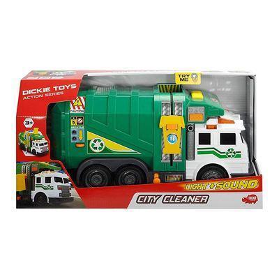Машинка Dickie Toys  Мусоровоз Чистый город со светом и звуком, 39 см  (3308378)