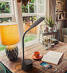 Настольная LED лампа NOUS S7 Black 8W 2700-6500K с Bluetooth колонкой, фото 9