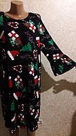 Простенькое платье но в новогодней тематике
