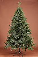 Ель литая зеленая смерека 130 см, искусственная елка, фото 1