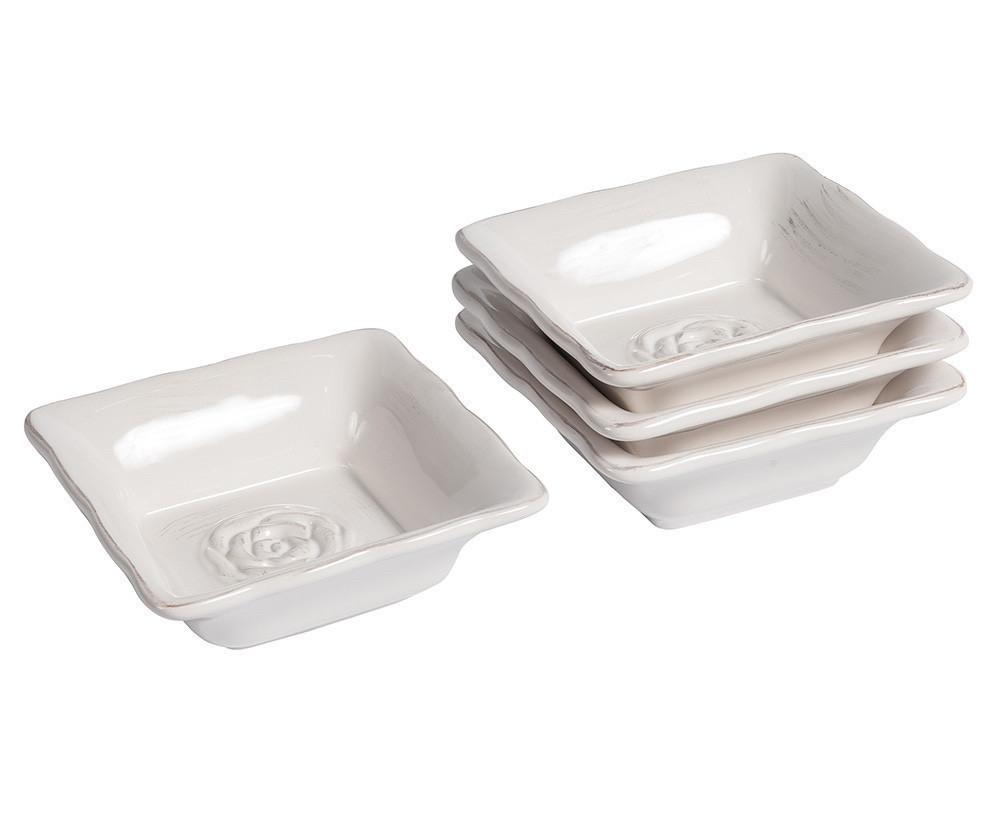 Комплект піал 4шт білі керамічні