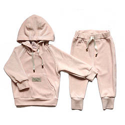Велюровий костюм для дівчинки від 0 до 4 років Andriana Kids рожевий