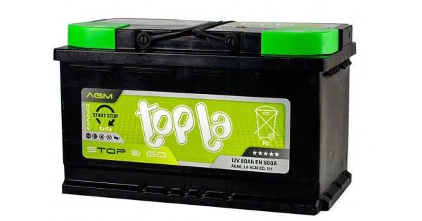 Topla Start-Stop&Go AGM 6СТ-80  Автомобильный аккумулятор, фото 2