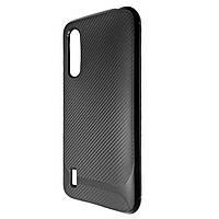 Чехол-накладка DK Silicone SGP Carbon для Xiaomi Mi 9 Lite (Mi CC9) (black)