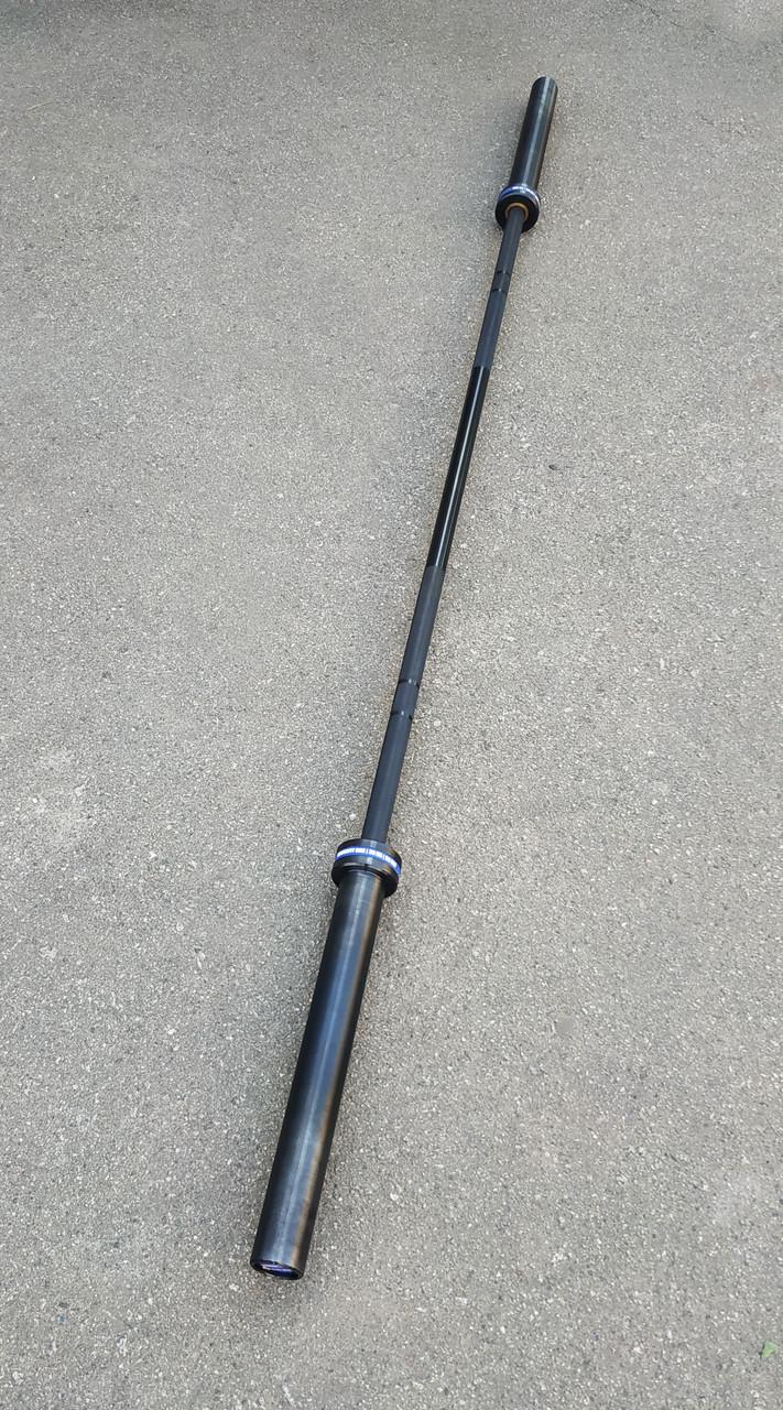 Гриф олимпийский для тяжелой атлетики и кроссфита 220 см, 450 кг, 4 подшипников, 28 мм (CrossFit)