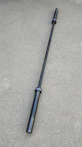 Гриф олимпийский для тяжелой атлетики и кроссфита 220 см, 450 кг, 4 подшипников, 28 мм (CrossFit), фото 2