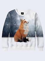 Свитшот женский Лисица зимой