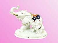 Фарфоровые фигурки: слон со слоненком (фф-37)