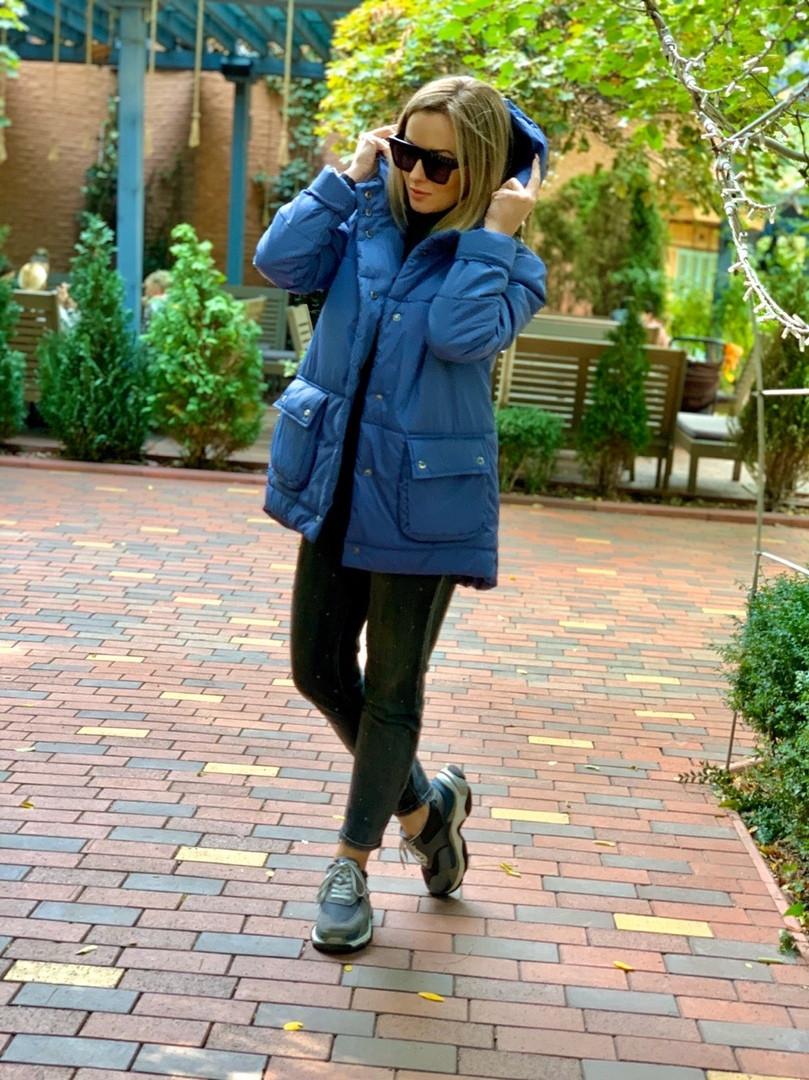 Женская стильная куртка с карманами свободная