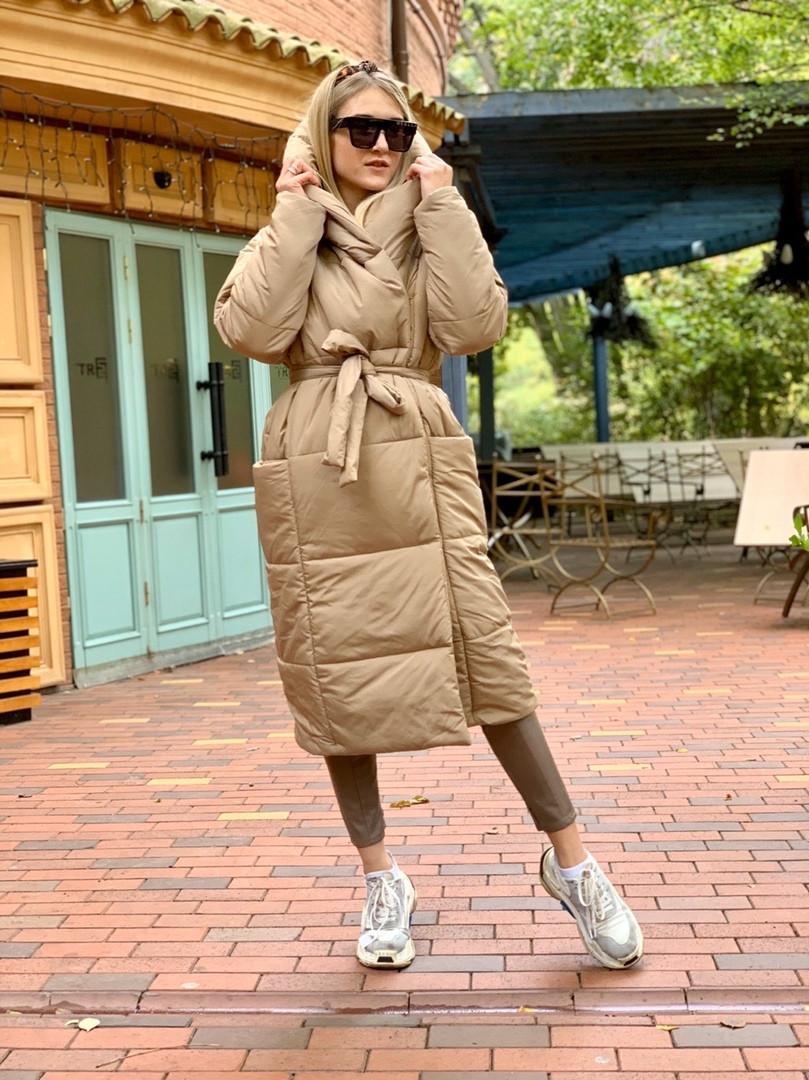 Куртка-пальто на кнопках ниже колен