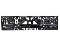 Рамка под номерной знак Subaru Carlife NH65