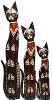 Кот коричневый с ожерельем на шее из стекла (к-950,к-951, к-952)