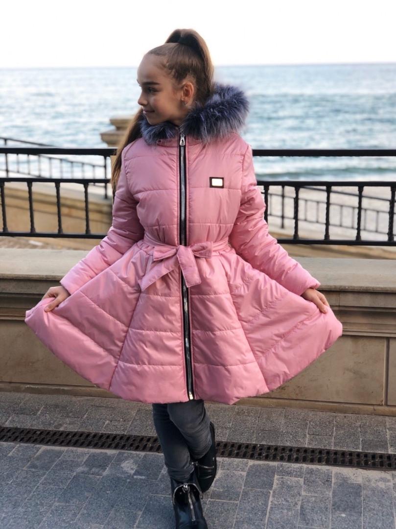 Куртка колокольчик для девочки 134,140,146,152