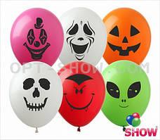 """Латексные шары 12"""" (30 см) с рисунком """"Страшилки"""", 10 шт"""