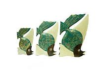 Набор рыб с острым плавником, 3 цвета (р-132, р-133, р-134) (1)