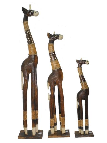 Набор жирафов с ротангом (ж-68, ж-69, ж-71)