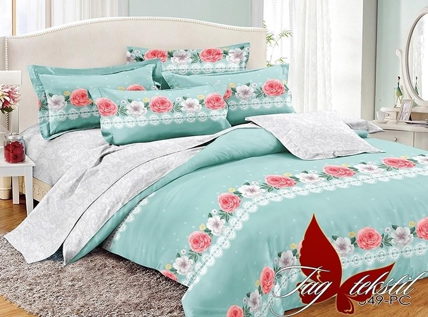 Евро. Комплект постельного белья с компаньоном PC049