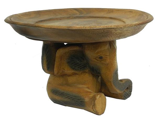Слон / три слона держат тарелку, 2 вида (см-60) (один слон)