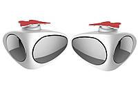 Двойное зеркало заднего вида для видимости слепой зоны, 360 градусов-2 шт 2 шт. Левое + Правое Белый