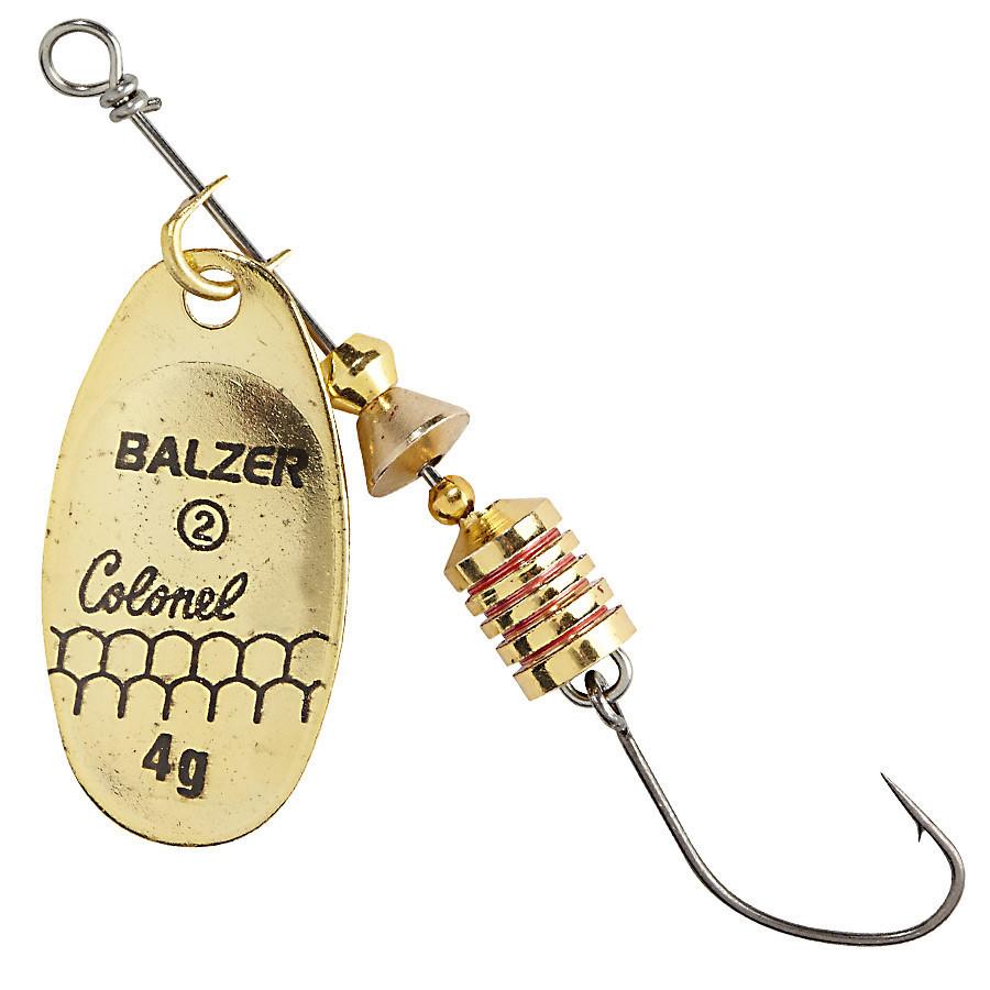 Блесна-вертушка Balzer Colonel Z Single Hook золото 4гр.
