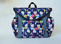 Сумка-рюкзак для коляски Mimirada-baby. Органайзер для коляски. Принт девочки