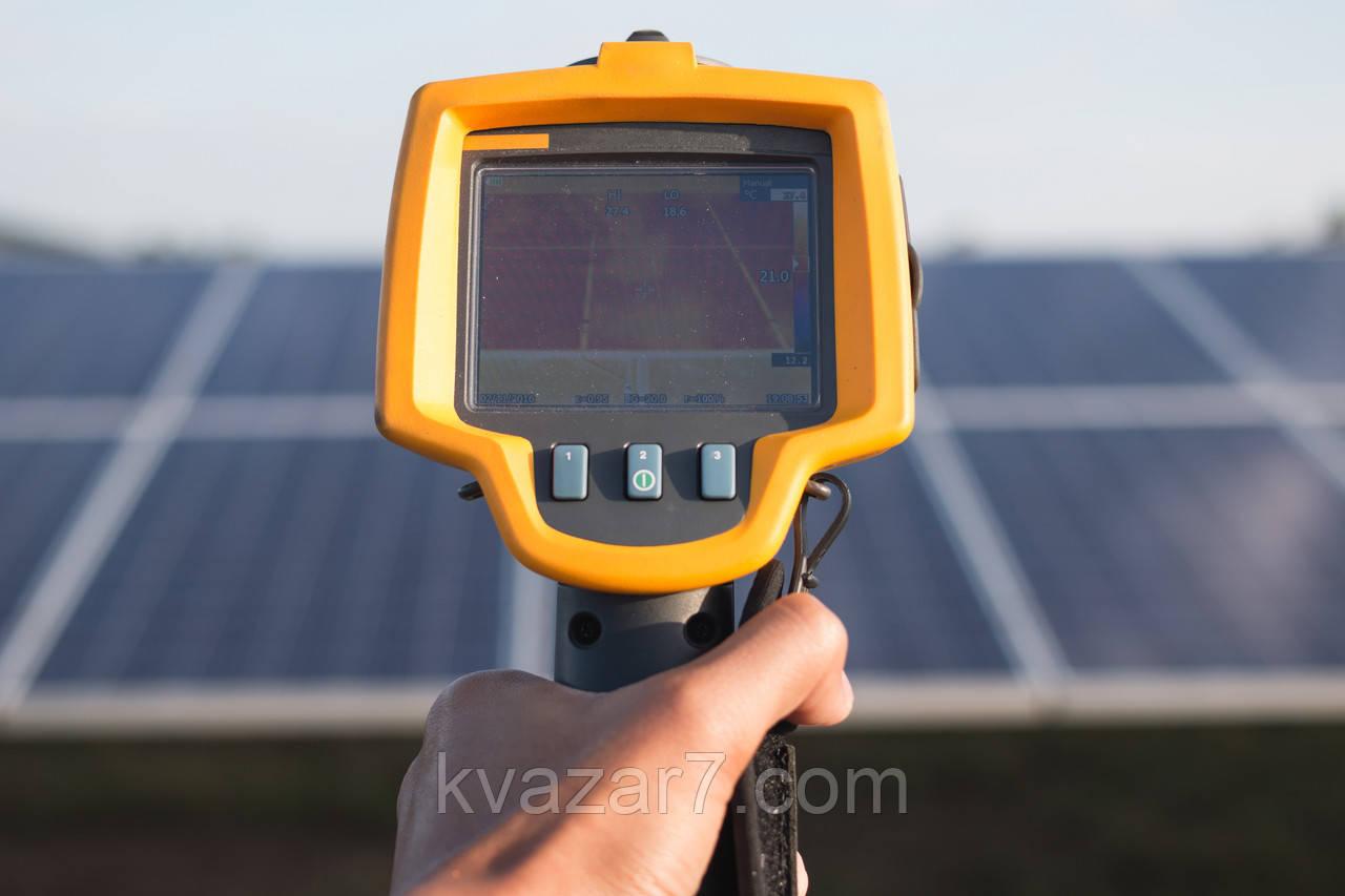 Аудит сонячних електростанцій, технічна експертиза, енергоаудит, тепловізійна зйомка, тепловізор