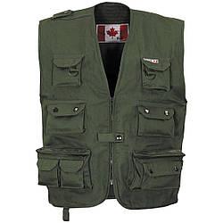 Канадський відкритий жилет темно-зелений (олива) Fox Outdoor