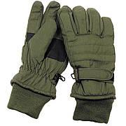 Перчатки с утеплителем и манжетой тёмно-зелёные MFH