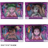 """Голова куклы """"Monster High"""" для причесок и макияжа. Кукла с рожками на голове"""