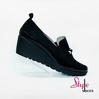 Женские туфли на элегантной танкетке, фото 1