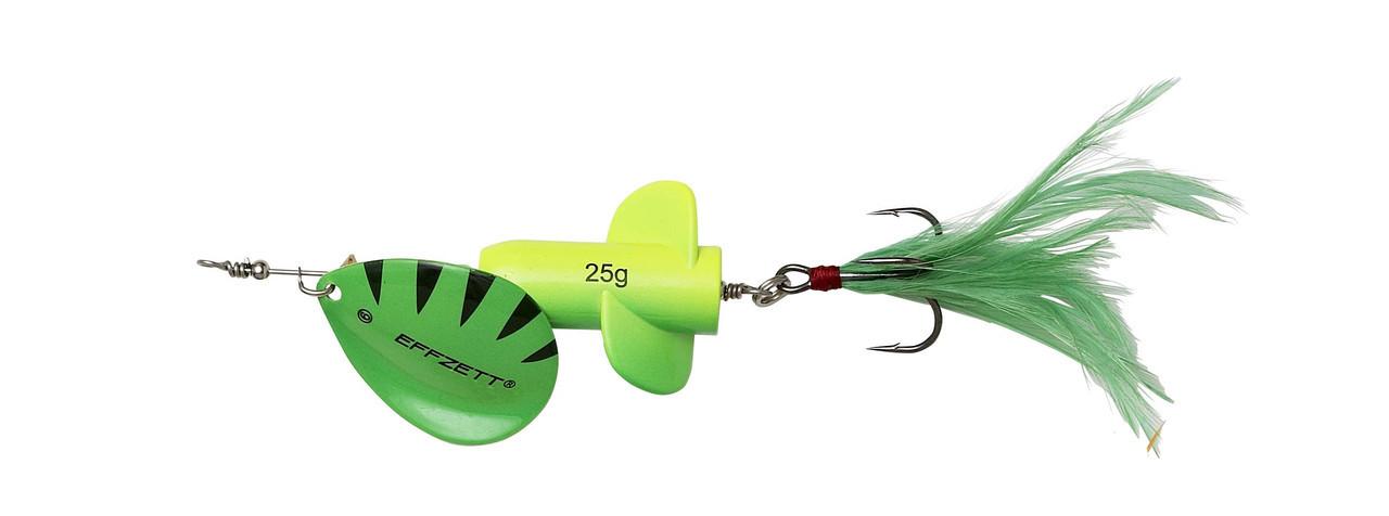 Блесна-вертушка DAM Effzett Rattlin' Spinner 11см 18гр (Fluo yellow/green)