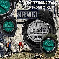 Часы для занятия спортом Skmei 1025 с LED подсветкой  Серый