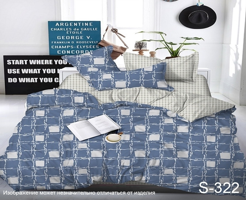 Семейный. Комплект постельного белья с компаньоном S322