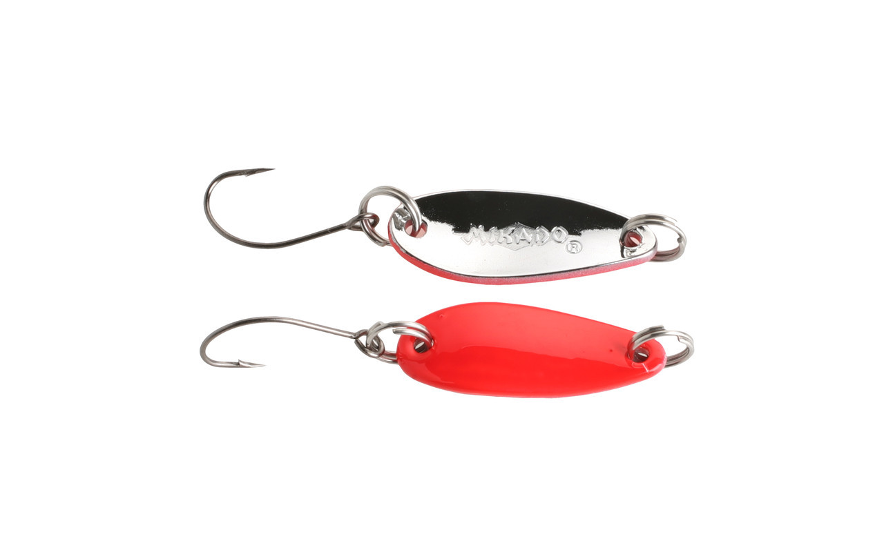 Блесна-колебалка Mikado Ice Spoon 2.4см 2.5гр red-silver