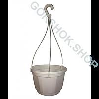 Горшок подвесной с подвесом Kloda 4.5 л Ø 23см * белый *