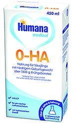 Смесь жидкая Humana 0-ГА Гипоаллергенная 450 мл