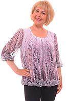 Нарядная женская блуза большого размера с узором