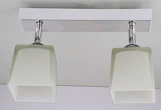 Люстра потолочная на 2 лампочки 51203/2-wh Белый 19х9х30 см.