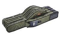 Чехол Mikado для 3 удилищ с катушками 160x28x40см