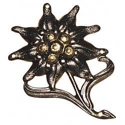 Значок металлический на берет Бундесвера «Эдельвейс»
