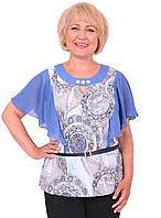 Модная женская блуза с коротким рукавом шифоновая