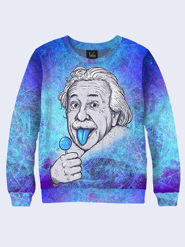 Свитшот женский Эйнштейн с чупа-чупсом