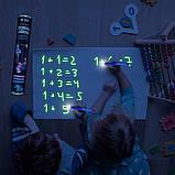 Мягкий коврик в тубусе для рисования в темноте Рисуй светом 56х39см, фото 6