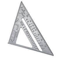 Алюминиевый сплав 7 дюймов Метрическая угловая линейка Деревообработка Квадратная планировка Инструмент-1TopShop